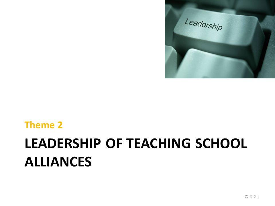 LEADERSHIP OF TEACHING SCHOOL ALLIANCES Theme 2 © Q Gu