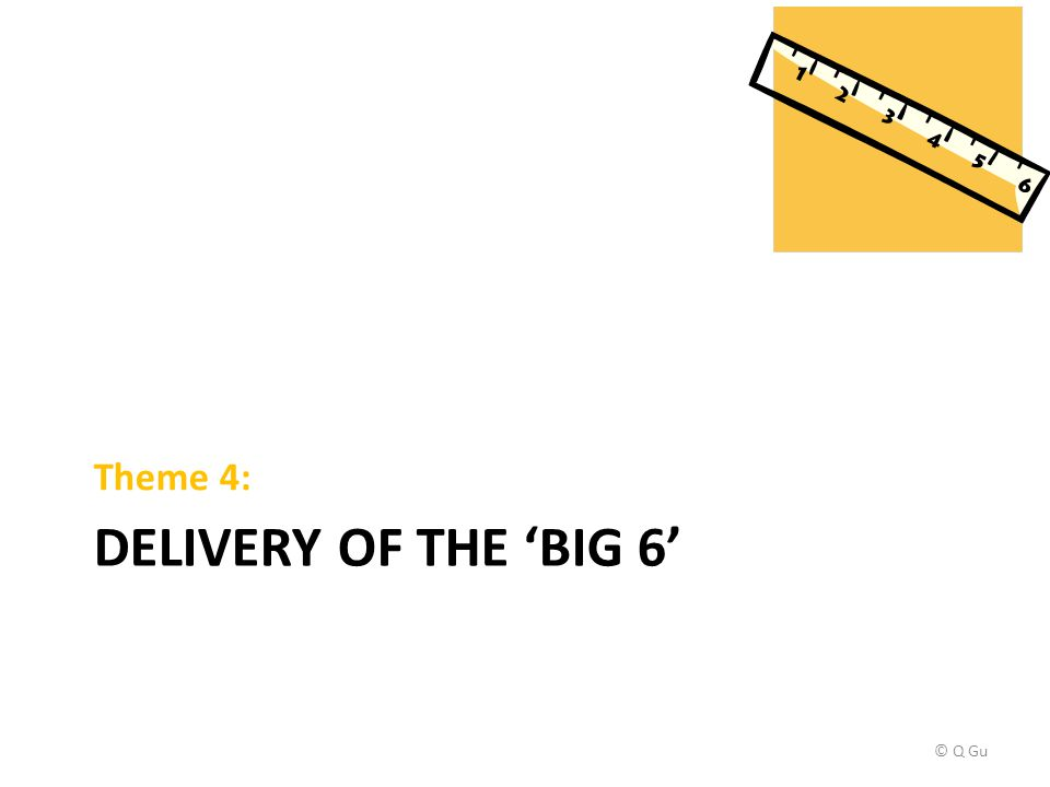 DELIVERY OF THE 'BIG 6' Theme 4: © Q Gu