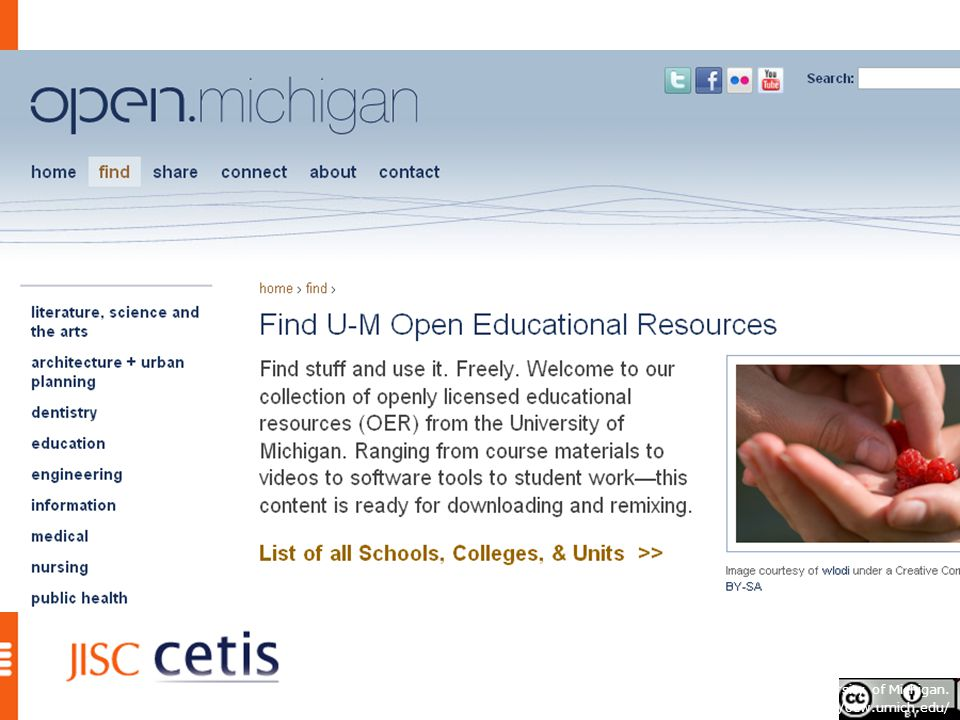 U niversity of Michigan OCW site © University of Michigan. http://ocw.umich.edu/