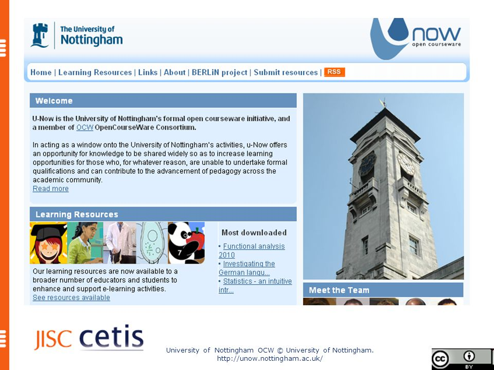 University of Nottingham OCW © University of Nottingham. http://unow.nottingham.ac.uk/