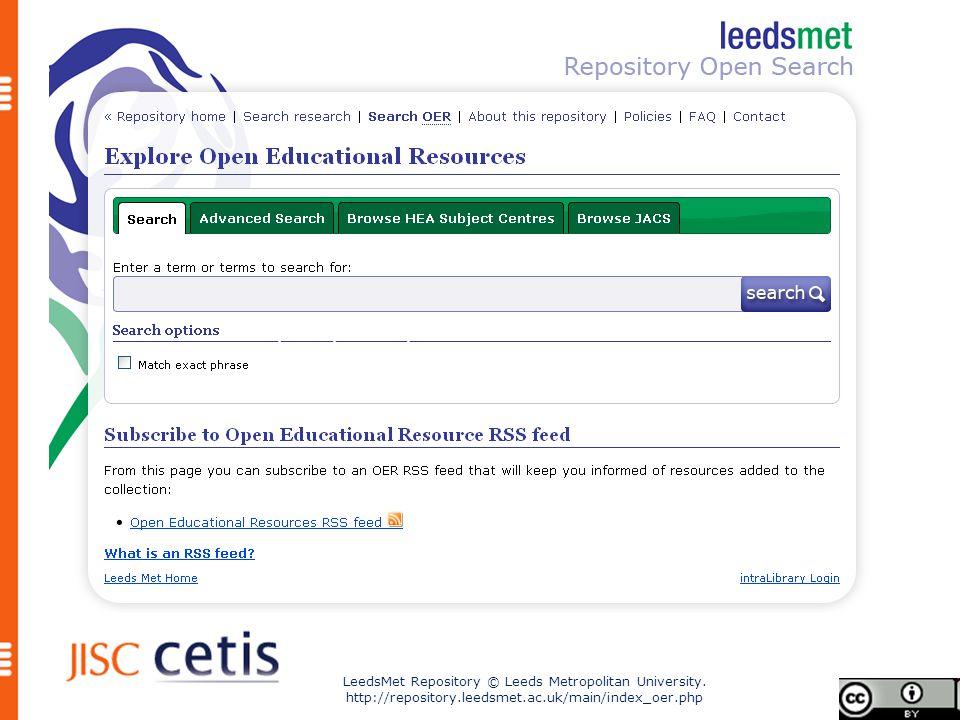 LeedsMet Repository © Leeds Metropolitan University.