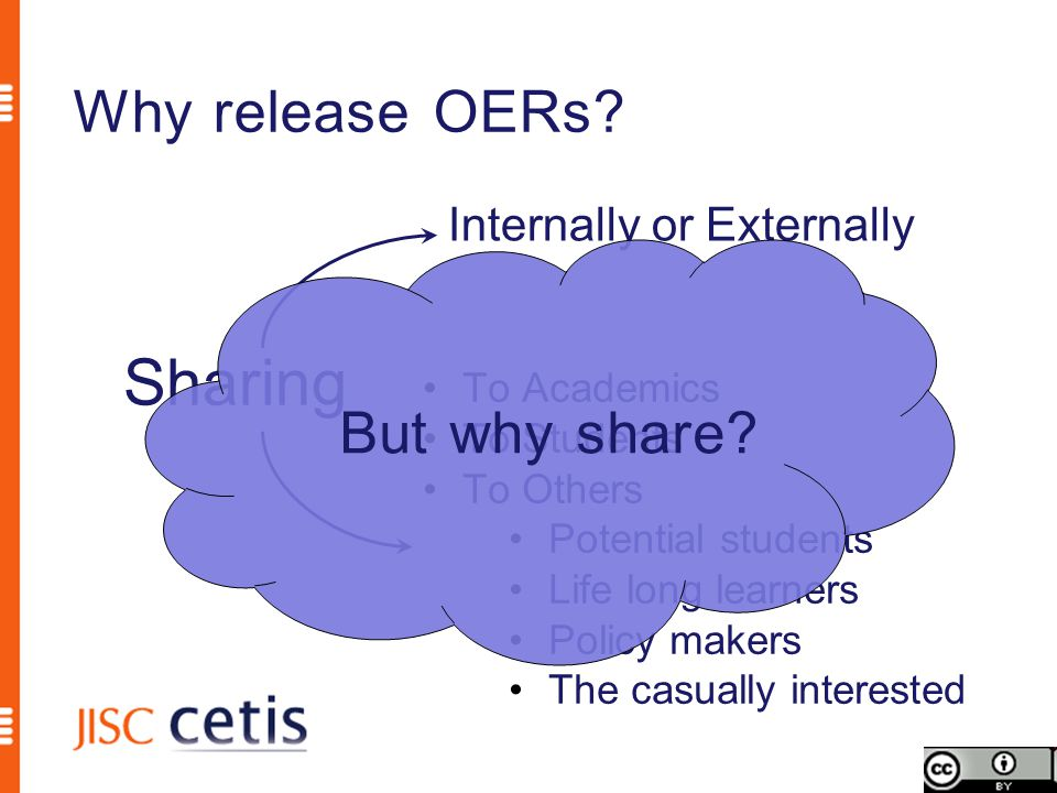 Why release OERs.