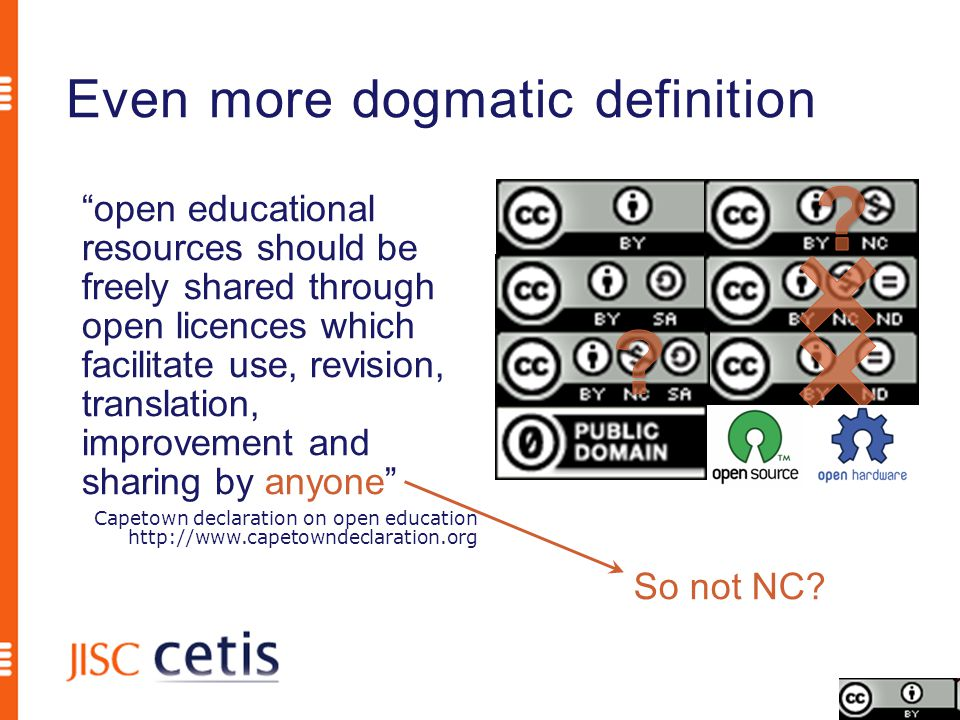 What projects did CETIS's UKOER technical synthesis and summary http://wiki.cetis.ac.uk/UKOER_synthesis One Standard to Rule Them All?: Descriptive Choices for Open Education http://www.slideshare.net/RJohnRobertson/one-standard-to-rule- them-all-descriptive-choices-for-open-education