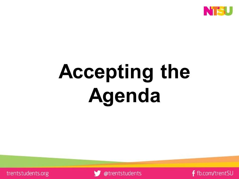 Accepting the Agenda