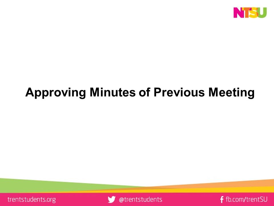 Approving Minutes of Previous Meeting