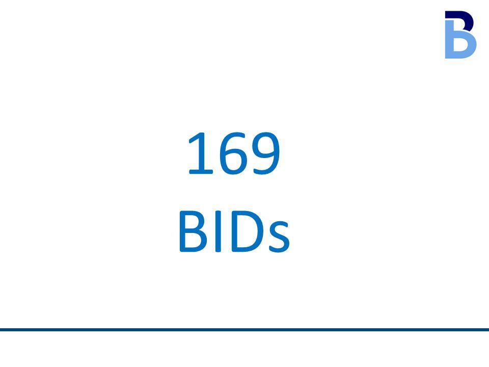 169 BIDs
