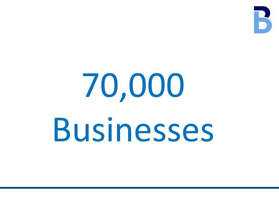 70,000 Businesses