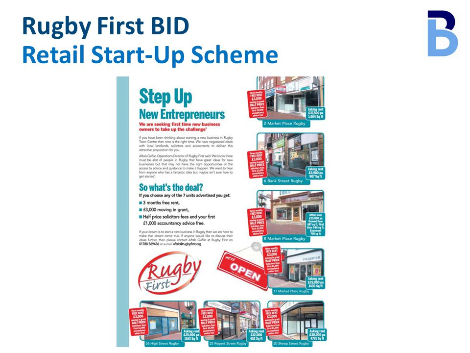 Rugby First BID Retail Start-Up Scheme