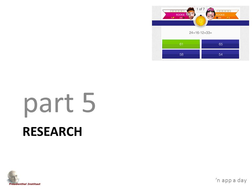 'n app a day RESEARCH part 5