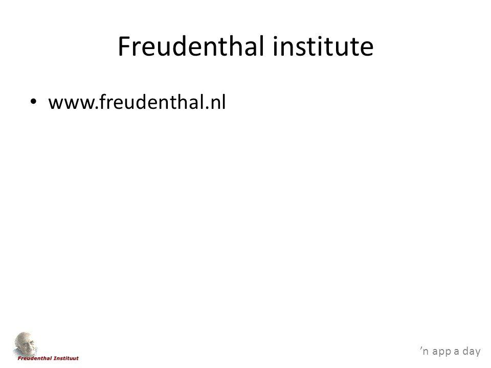 'n app a day Freudenthal institute www.freudenthal.nl