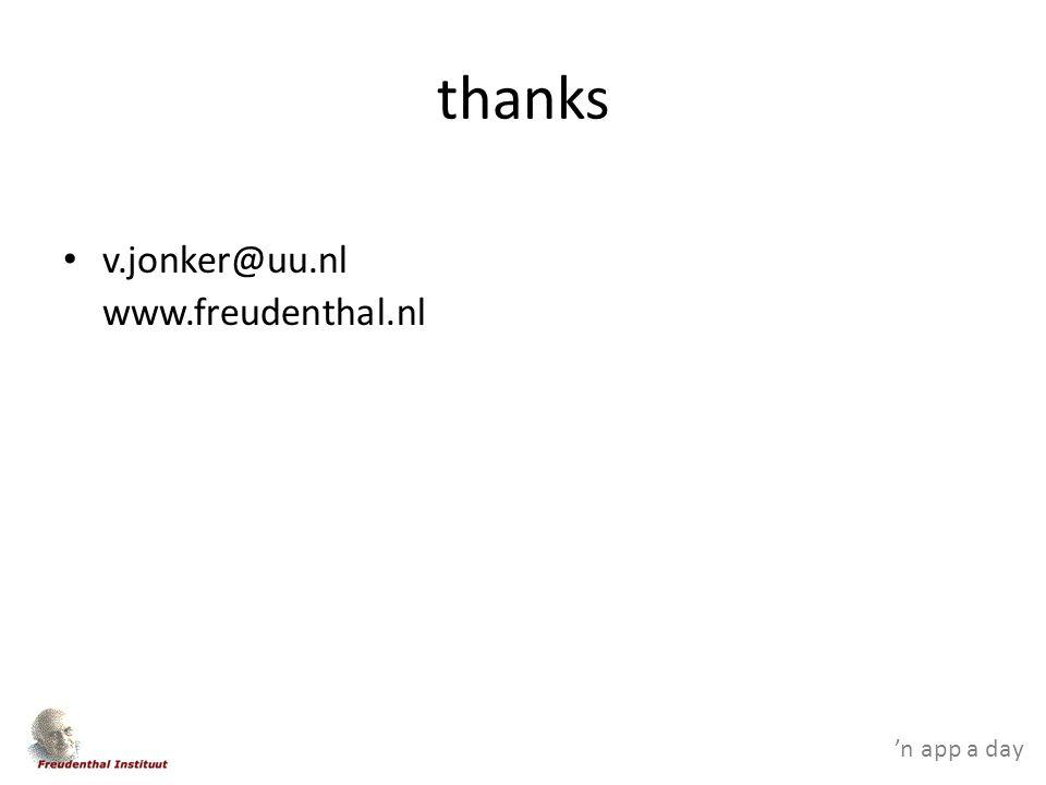 'n app a day thanks v.jonker@uu.nl www.freudenthal.nl