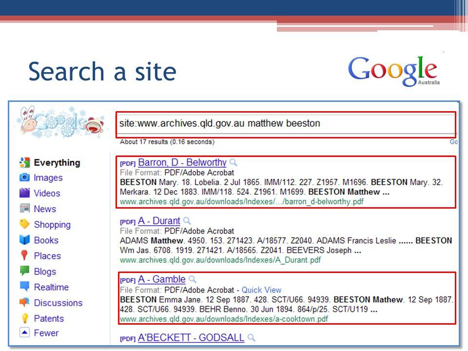 Search a site