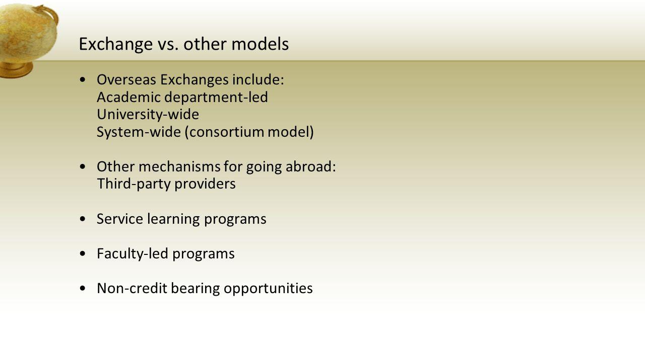 Exchange vs.