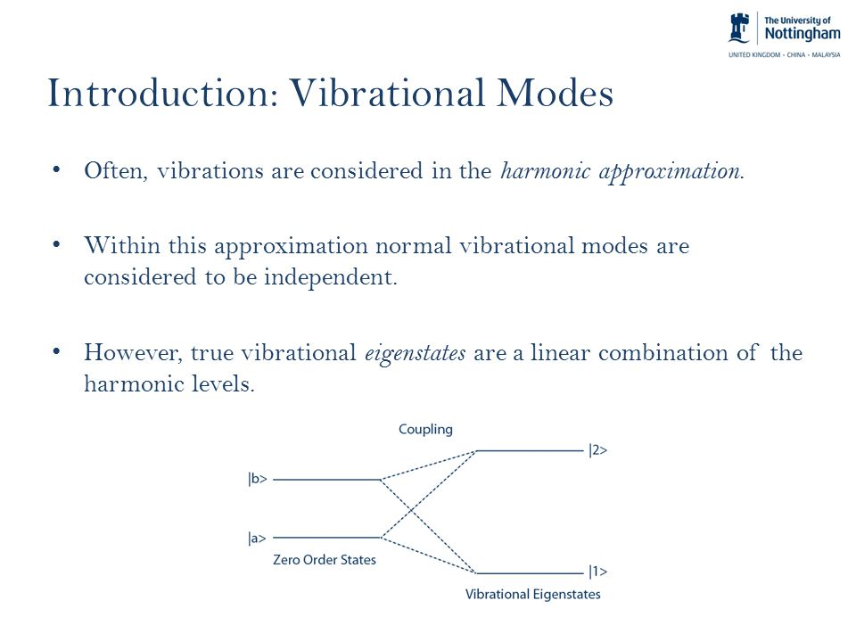 Introduction: Vibrational Modes Often, vibrations are considered in the harmonic approximation.