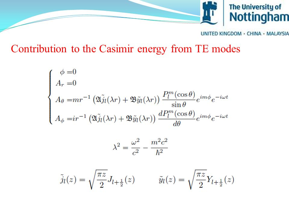 Contribution to the Casimir energy from TE modes