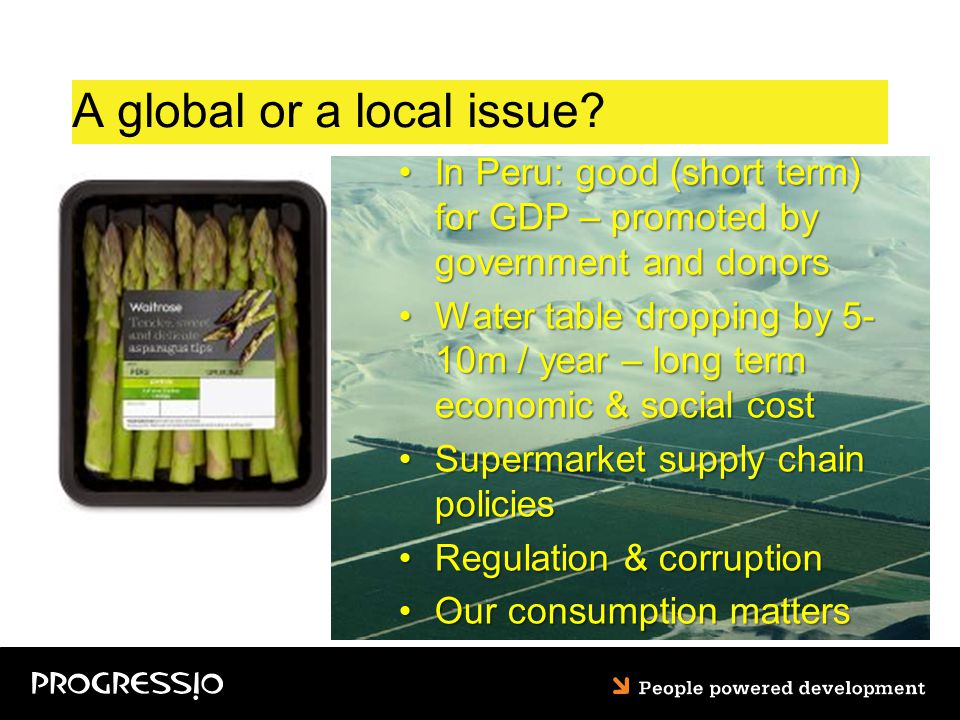 A global or a local issue.