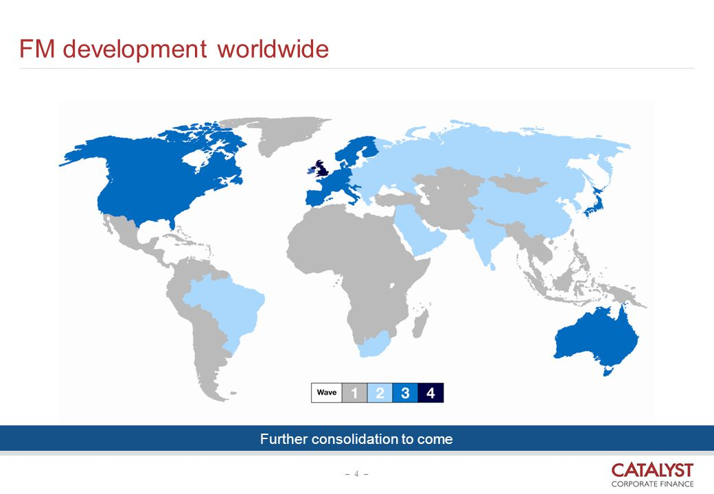 FM development worldwide – 4 – Further consolidation to come