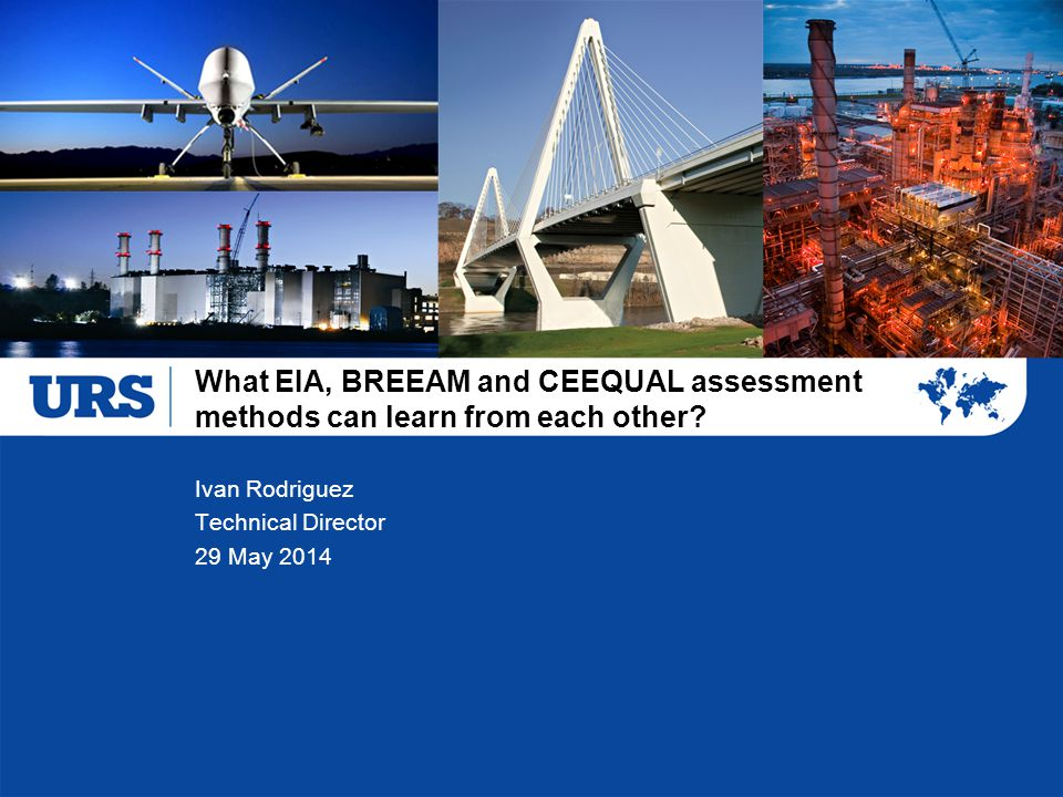 What EIA, BREEAM and CEEQUAL assessment methods can learn from each other? Ivan Rodriguez Technical Director 29 May 2014