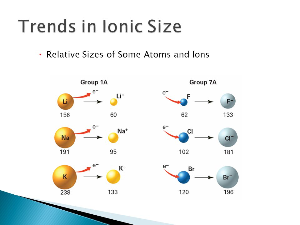  Relative Sizes of Some Atoms and Ions 6.3
