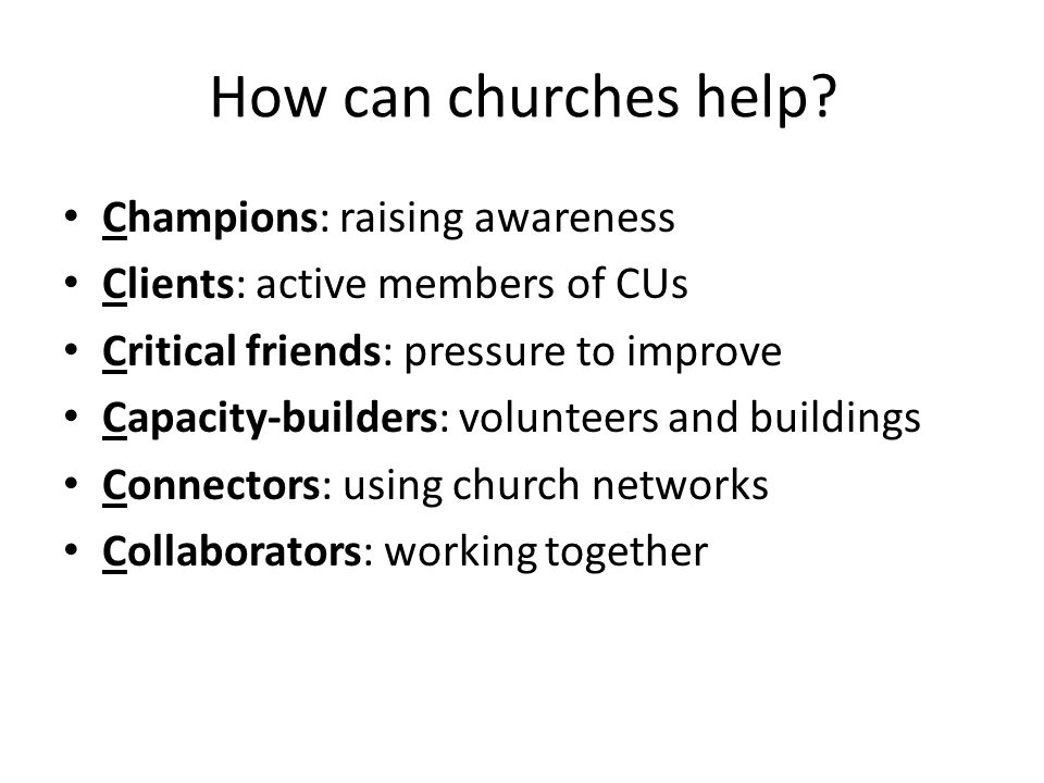 How can churches help.