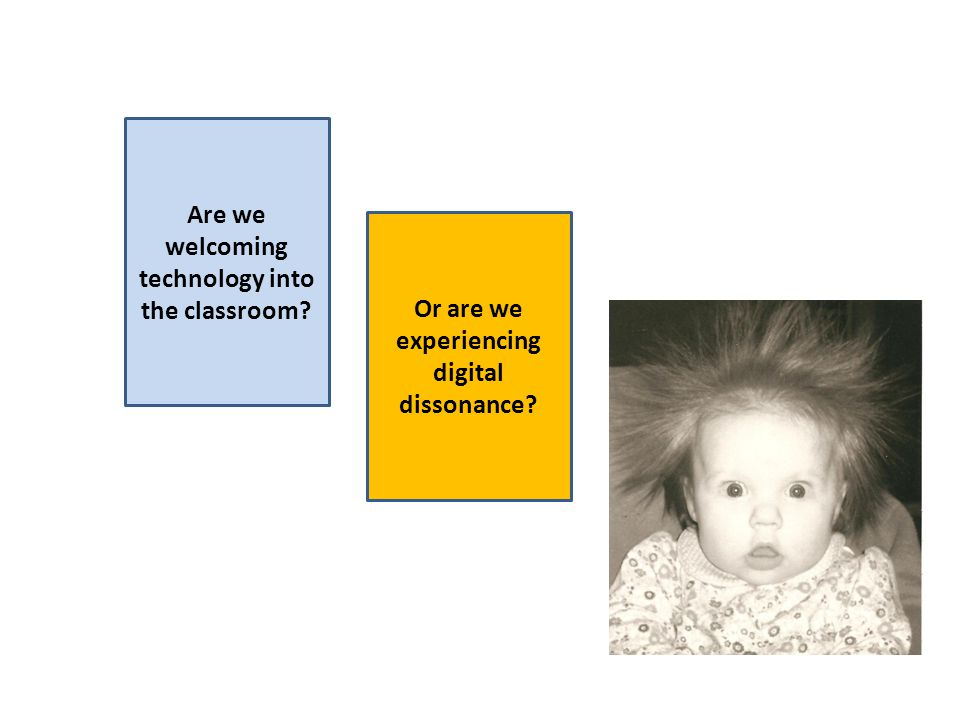 Are we welcoming technology into the classroom Or are we experiencing digital dissonance