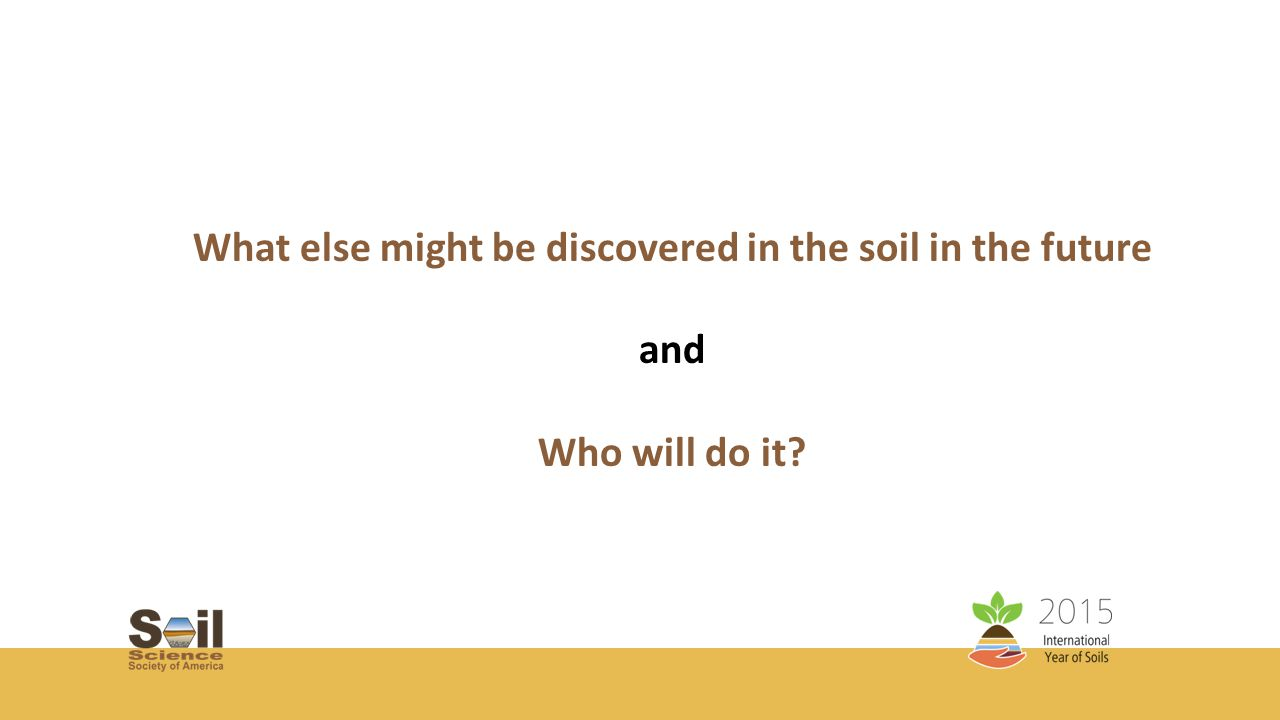 The UN Declared 2015 as the International Year of Soils (IYS) to bring more attention to this important natural resource.