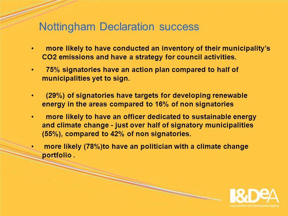 www.idea.gov.uk Diagnostic tool - Sustainable Energy Benchmark Benchmark structure
