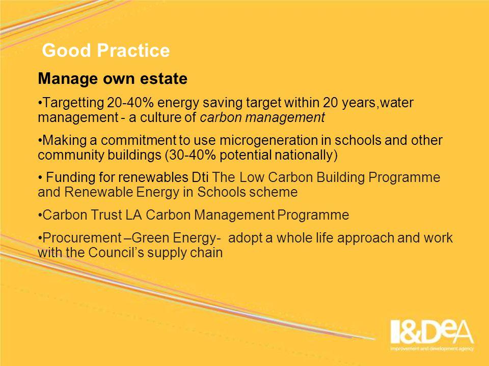Contact Details Steve Waller Sustainability Advisor IDeA Tel +44 7771 931 859 steve.waller@idea.gov.uk www.idea.gov.uk