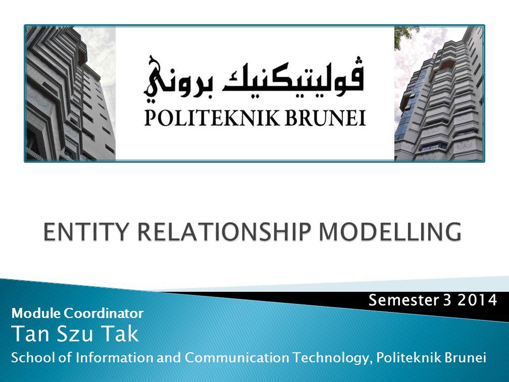 Module Coordinator Tan Szu Tak School of Information and Communication Technology, Politeknik Brunei Semester 3 2014
