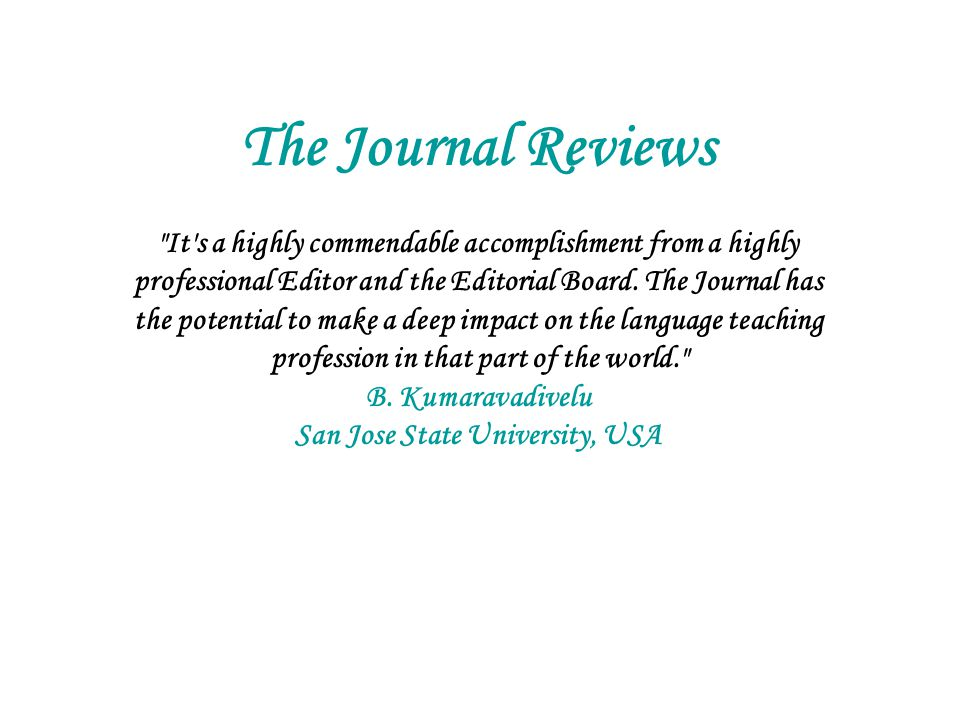 The Journal Reviews
