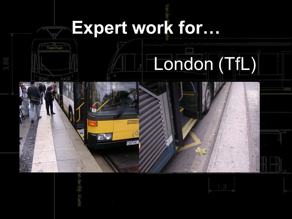 Expert work for… London (TfL)