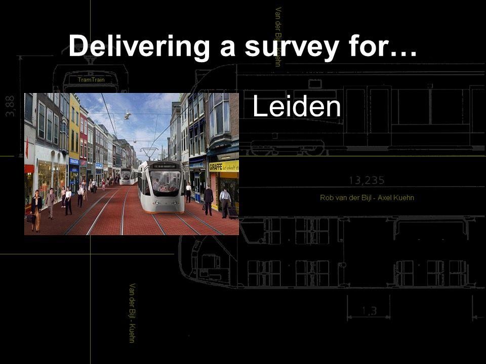 Delivering a survey for… Leiden