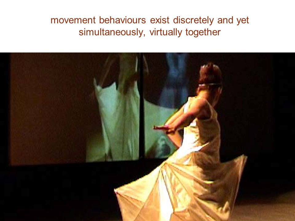 movement behaviours exist discretely and yet simultaneously, virtually together