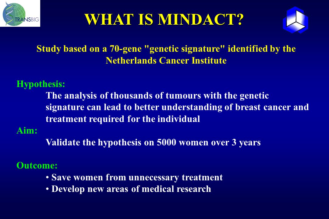 WHAT IS MINDACT? Study based on a 70-gene