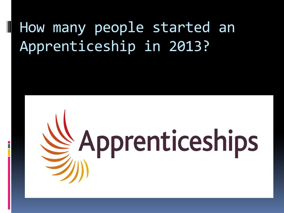 How many people started an Apprenticeship in 2013.