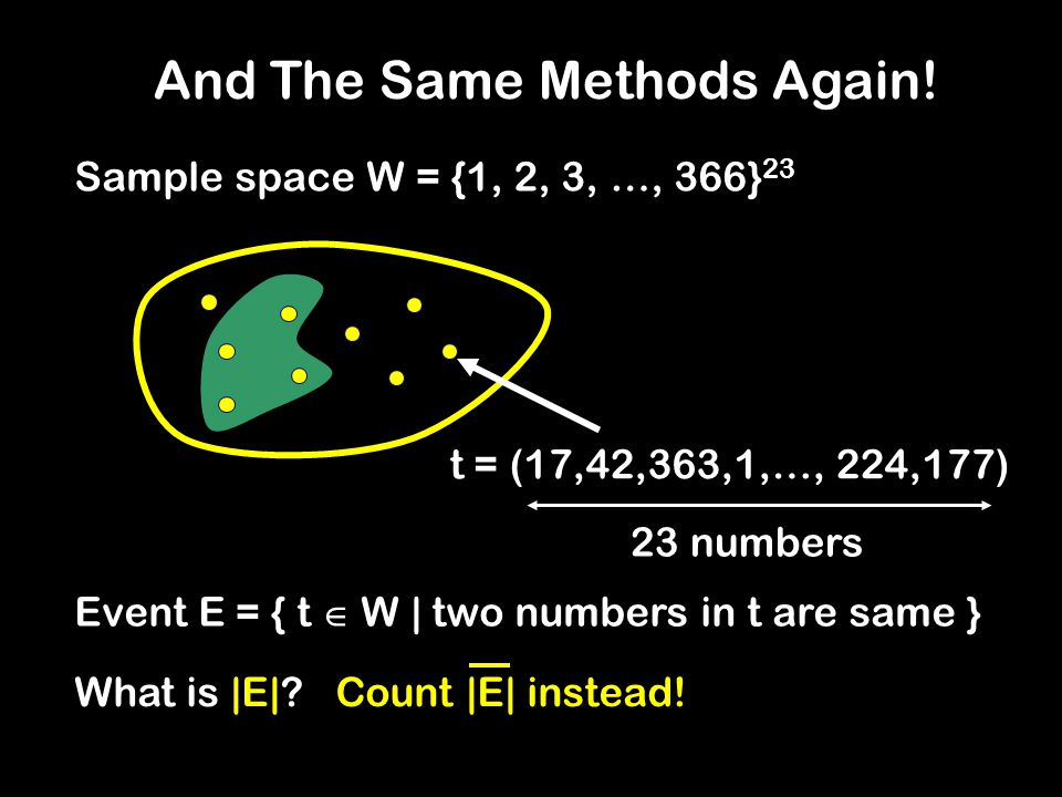 t = (17,42,363,1,…, 224,177) 23 numbers And The Same Methods Again.