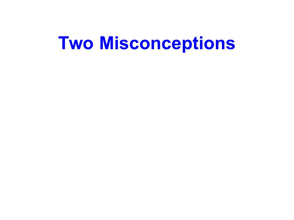 Two Misconceptions