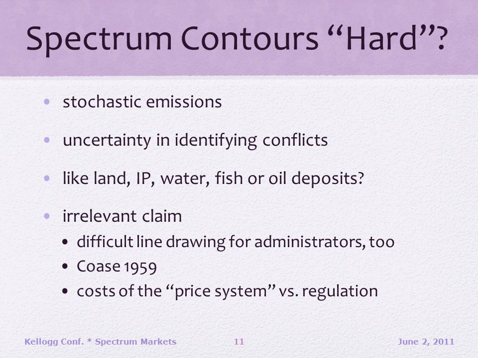 "Spectrum Contours ""Hard""? stochastic emissions uncertainty in identifying conflicts like land, IP, water, fish or oil deposits? irrelevant claim diffi"