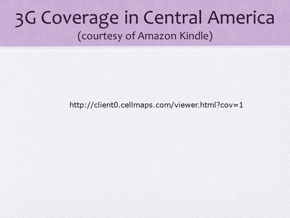 October 2010 2G coverage light purple 3G coverage dark purple