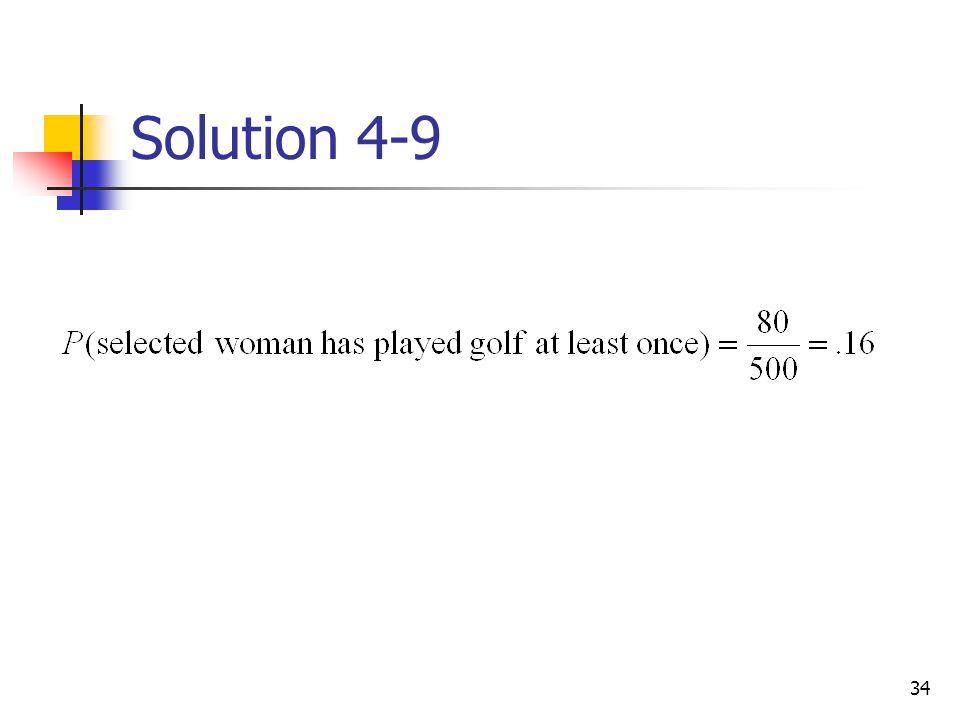 34 Solution 4-9