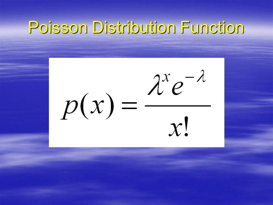 Poisson Distribution Function