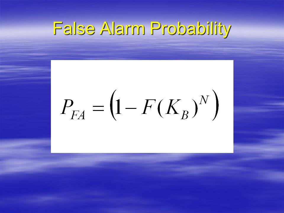 False Alarm Probability