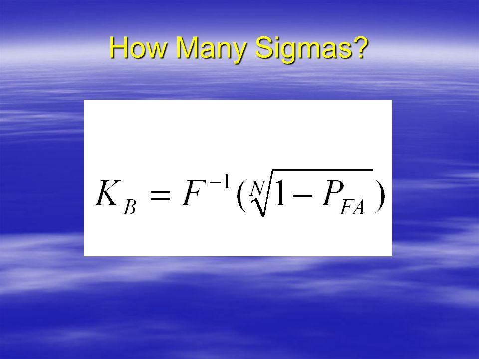 How Many Sigmas