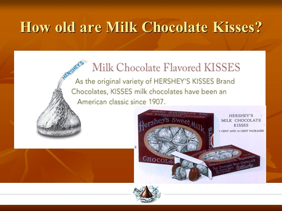 How old are Milk Chocolate Kisses?