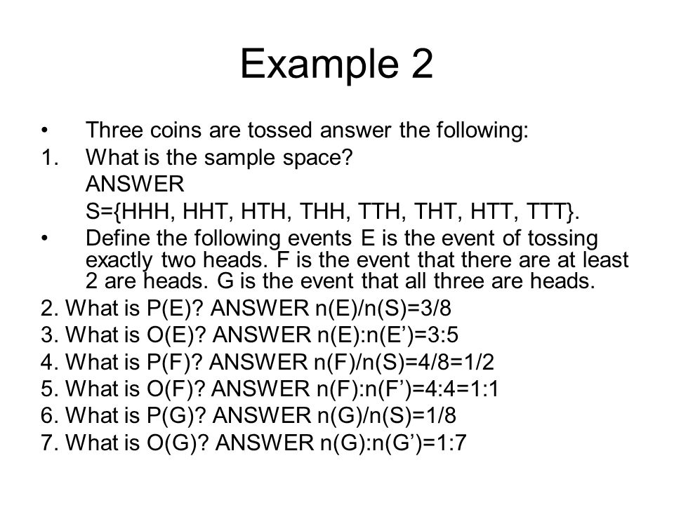 Tossing 2 dice Consider tossing 2 six-sided dice.What is the sample space.