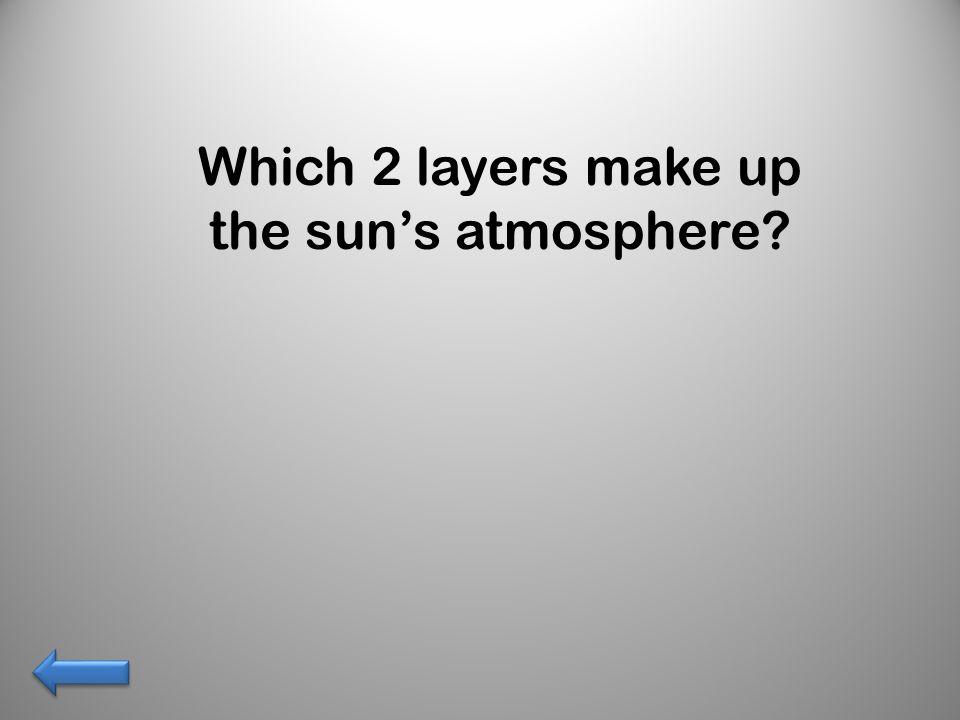 Which 2 layers make up the sun's atmosphere?