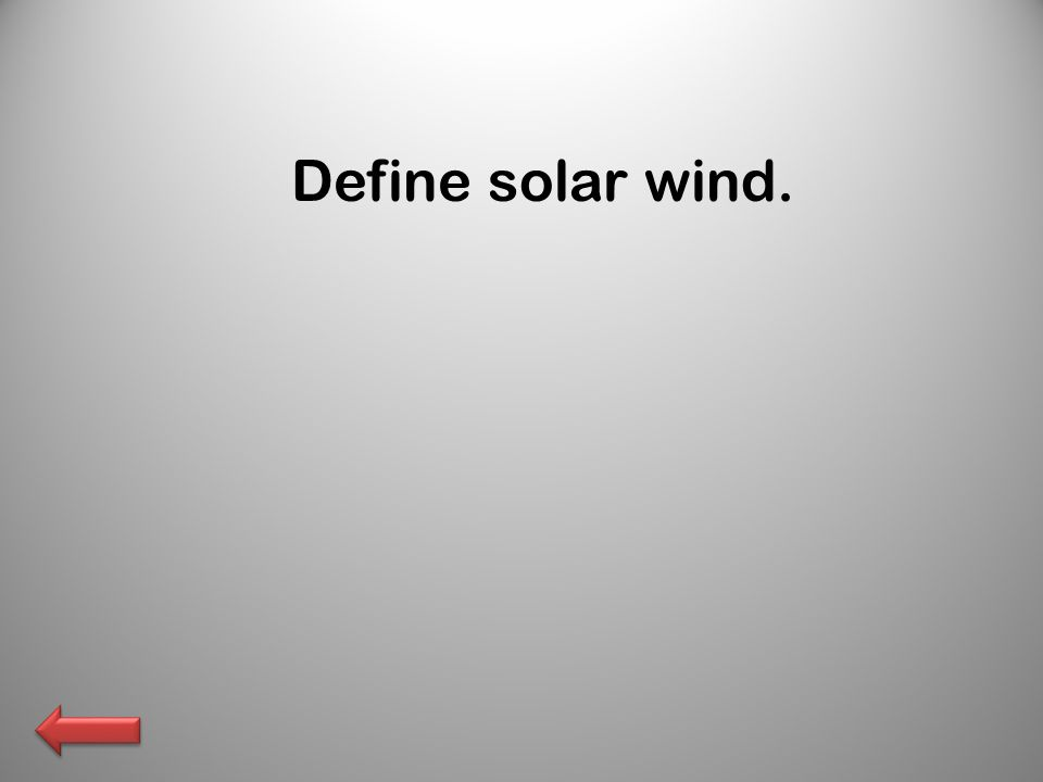 Define solar wind.