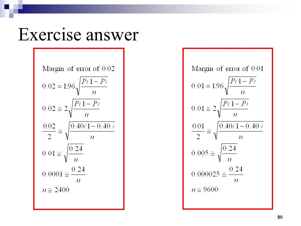80 Exercise answer