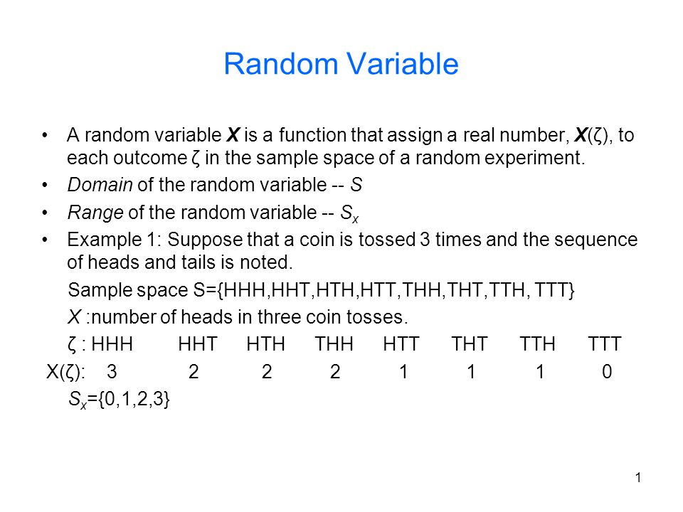 12 Mean and variance Mean: The mean (or expected value) of a r.v.