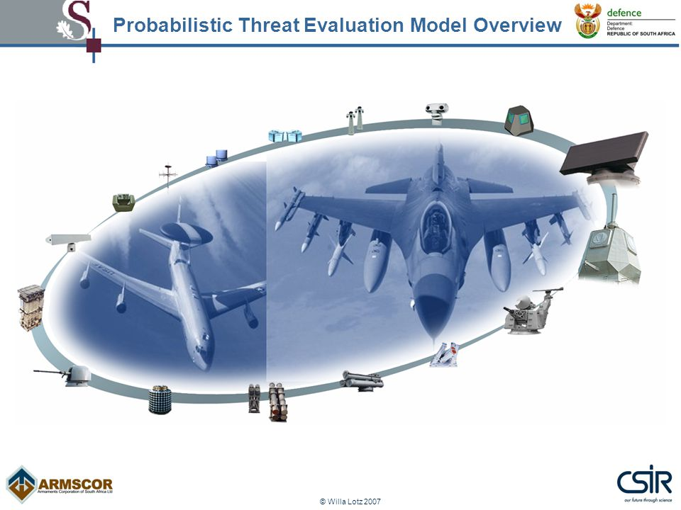 © Willa Lotz 2007 Probabilistic Threat Evaluation Model Overview
